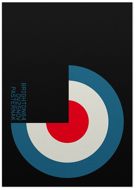 Brighton 64 gig poster by Marin Dsgn - don't know'em but want to like them just based on the poster
