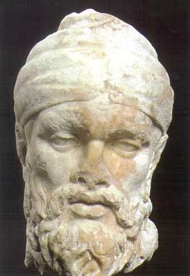 This head of a Dacian prisoner is among the highlights of the Imperial Fora in Rome exhibition at the Italian Academy