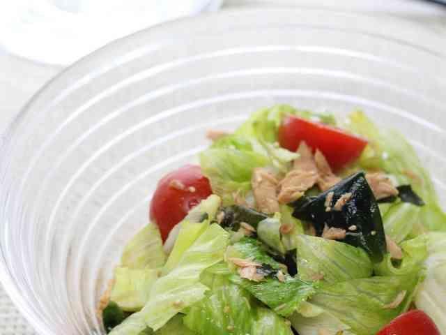 レタスとツナとわかめの中華サラダの画像