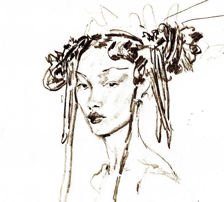 Fashion sketch by Massimo Navarra