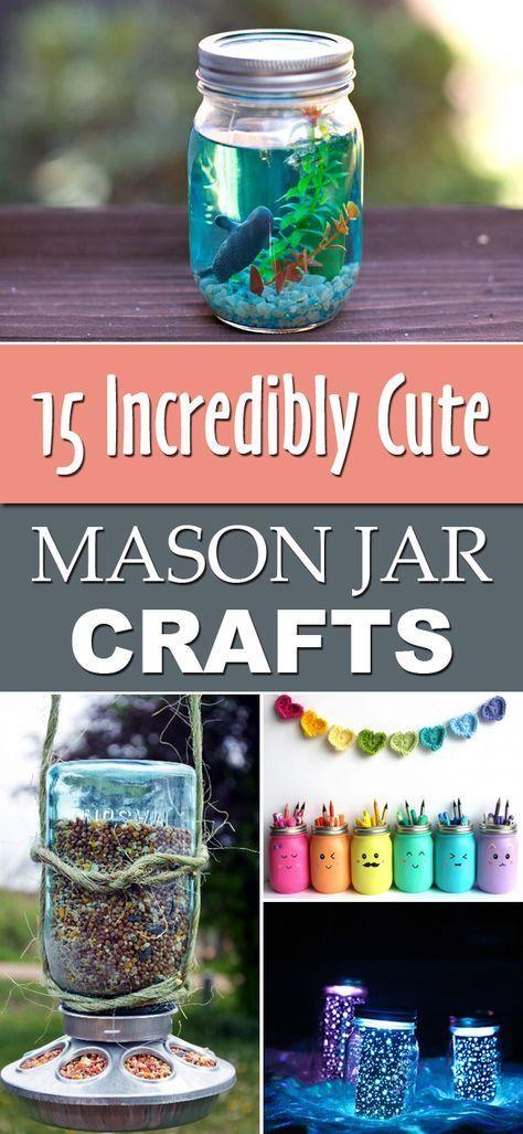 diytotry 15 Incredibly Cute Mason Jar Crafts