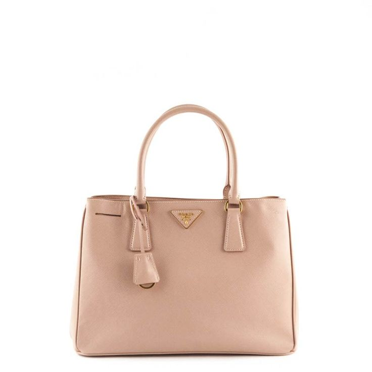 Prada Blush Nude Saffiano Small Single Zip Tote - LOVE that BAG - Preowned Authentic Designer Handbags