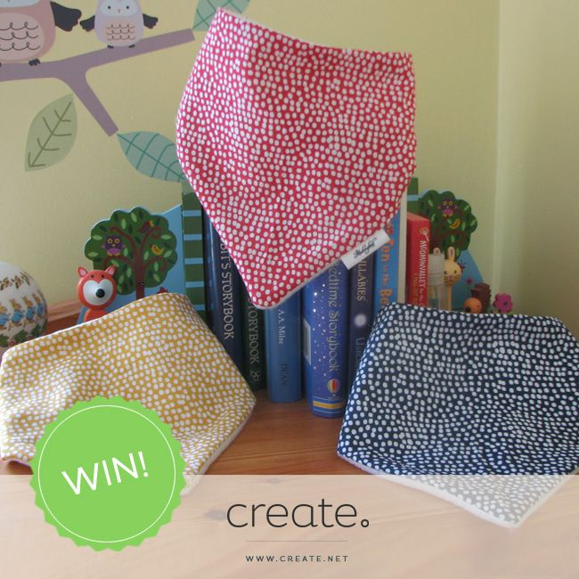 WIN this set of fabulous handmade 100% cotton dribble bibs in polka dot design with this week's FreebieFriday! A huge thanks to http://www.mockingbirdboutique.co.uk/ for supplying the prize this week! Head over to the Create Facebook page for a chance to #WIN! Facebook.com/create
