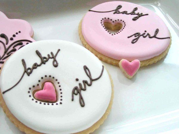 HEART CUTOUT COOKIES would have to make these for the next baby shower.