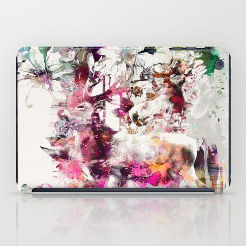 Deers and Flowers iPad Case