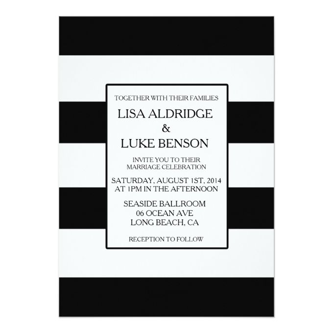 1770 best Black and White Wedding Invitations images on Pinterest