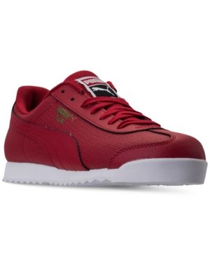 Puma Men's Roma Classic Perf Casual Sneakers from Finish Line - Red 9.5