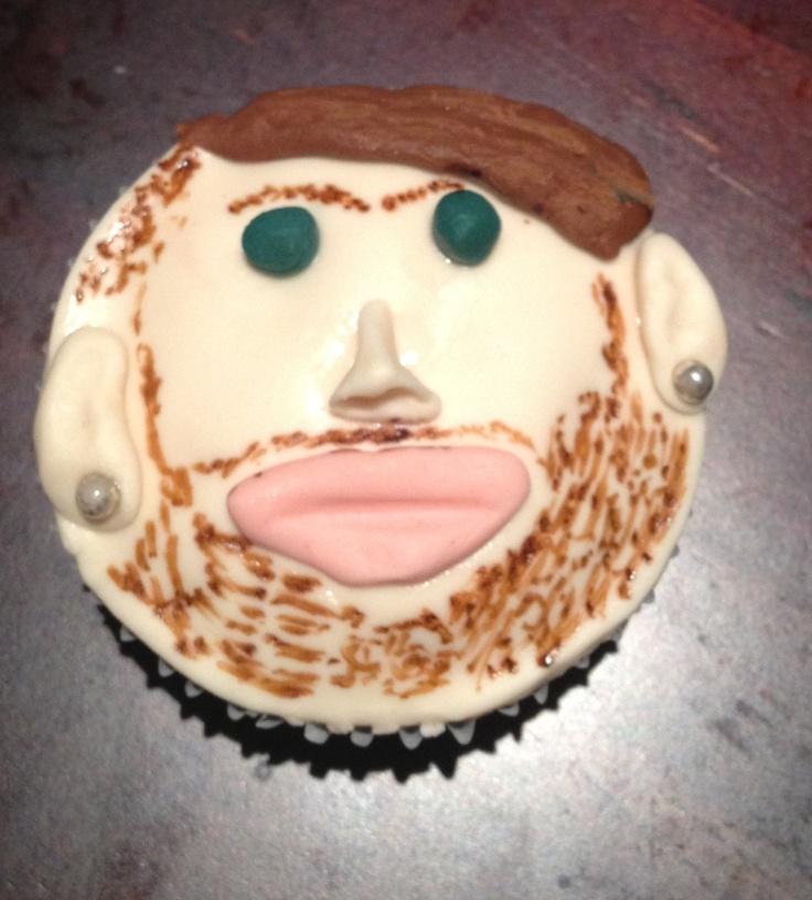 Brendan's self portrait cupcake
