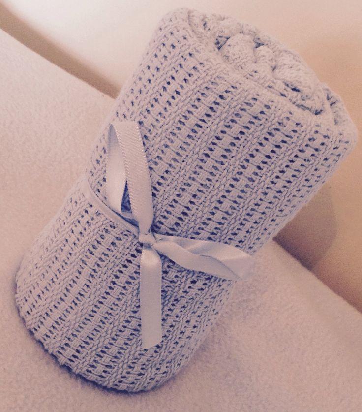 Image of Beautiful Blue Celluar Cotton Blanket