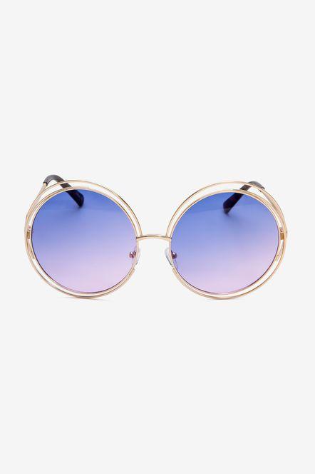 Цветные линзы вырезают круглые солнечные очки