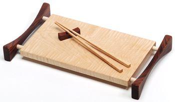 Cutting board and chopsticks individually handmade by davin & kesler