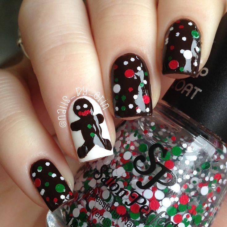 Cookie swirl c nail art