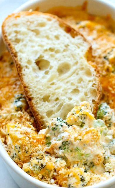 Baked Broccoli Parmesan Dip -OMG this is so yummie:) its perfect for summer