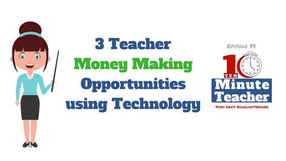 Today Jessica Gordon @1337teach shares three ways teachers can use technology to make money this summer (or anytime.) We talk about some ethical considerations and opportunities. Listen Now Stream by clicking here. Download the transcript of this show or scroll down to read it on this page. In today's show, Jessica Gordon talks about three […]
