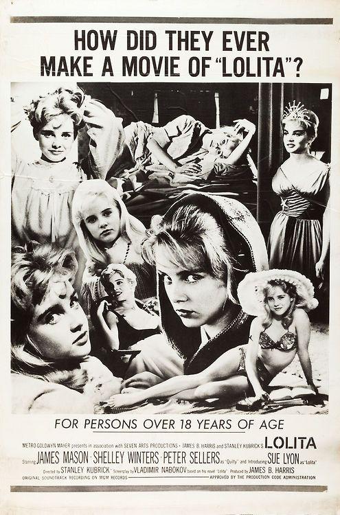 Alternate Poster for Lolita (Stanley Kubrick, 1962)