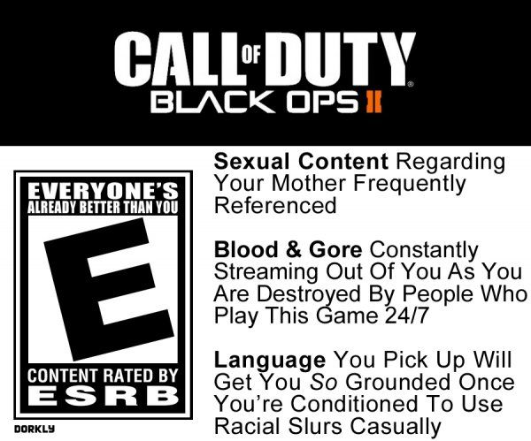 Adult rated video game