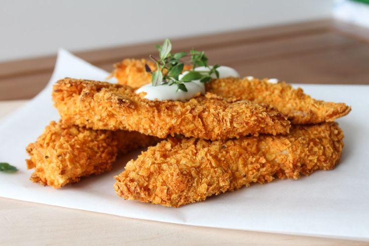 Easy and delicious Doritos chicken sticks !