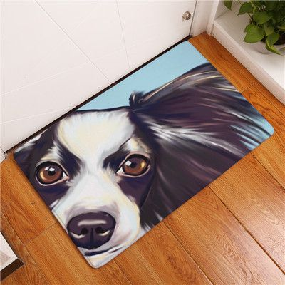 Dog Watercolor Welcome Mat