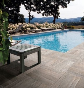 Wood Tile patio, pretty sweet for outdoors