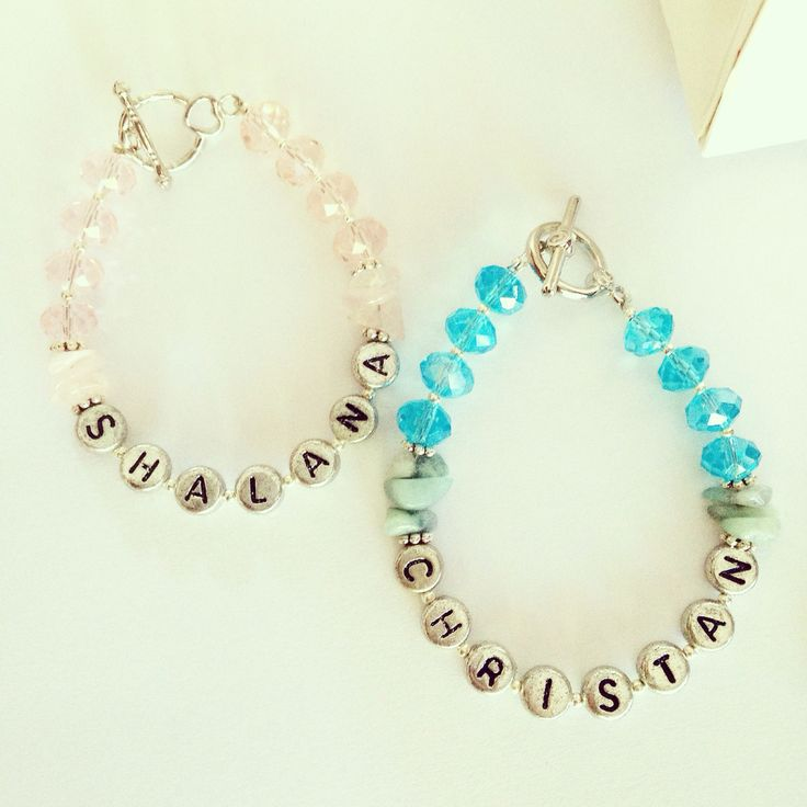Custom name bracelets make the perfect personalized gift for just $15 each! Order at bleakjewellery@gmail.com www.bleakdesigns.com.au #bleakdesigns #bleakjewellery #crystal #rosequartz #amazonite #handmade #unique #australiandesigner #sydneydesigner #indie #hippie #gypsy #vintage #superstition #childrens #jewellery