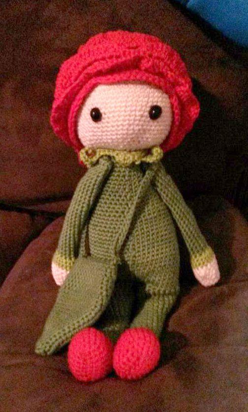 Rose Roxy flower doll made by Anna W - crochet pattern by Zabbez