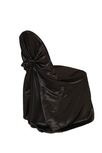 universal banquet chair covers kid in wheelchair satin self tie cover black products pinterest
