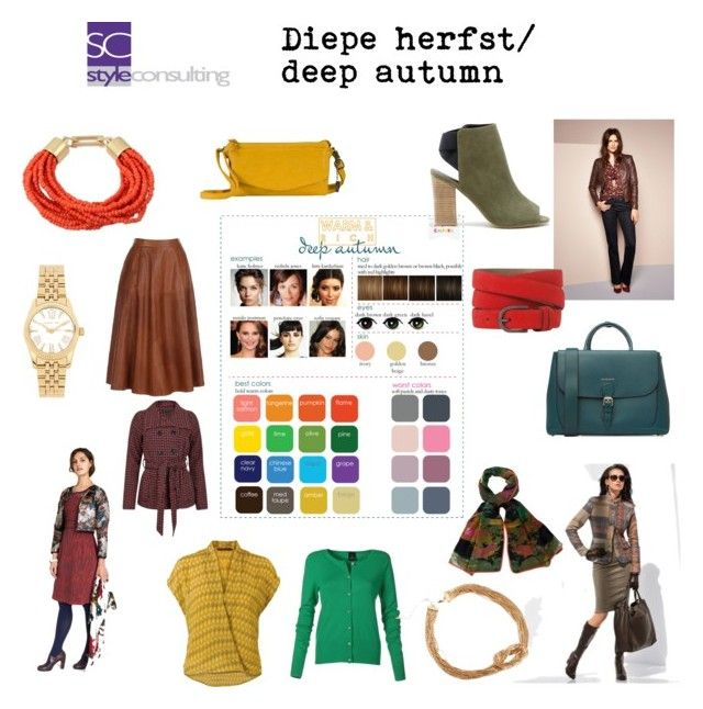 """Diepe herfst/ Deep autumn color type"". By Margriet Roorda-Faber."
