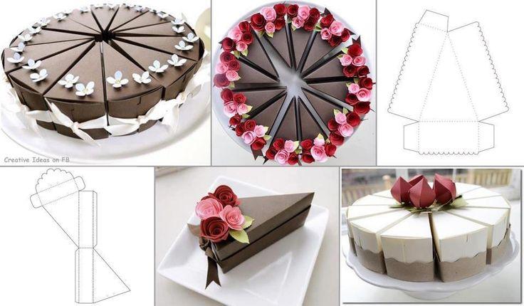 Papír tortaszeletek