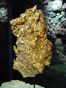The gold nugget at the Ironstone Winery in California's Mother Lode. The nugget was found in 1992 at the Sonora Mine and weighs 44 lbs.