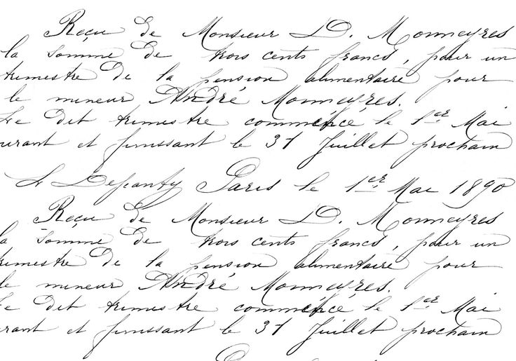 Francés imprimir Transferencias de escritura a mano