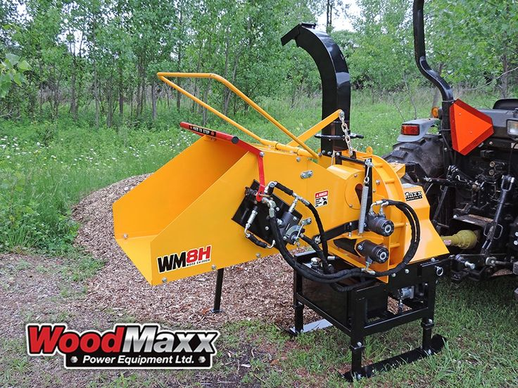 "8"" PTO Wood Chipper Tree Chipper Brush Chipper - Hydraulic Feed"