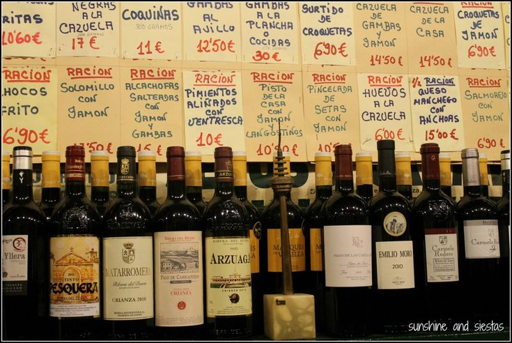 menu sol y sombra Triana #spain #espana #wine #seville
