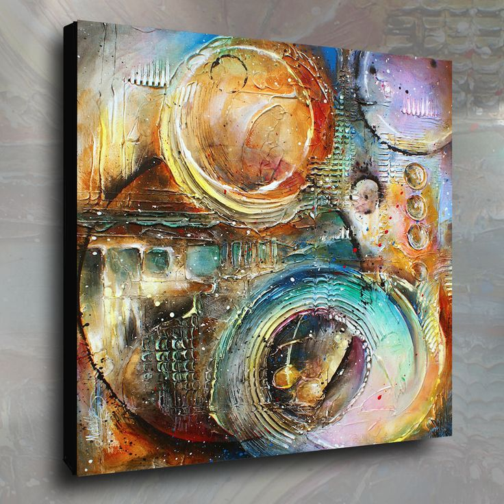 """Original Textured Abstract Design. A single canvas original Textured painting measuring 36"""" high by 36"""" wide by 1.5"""" deep. Professional quality materials were used in the creation of this art. The canvas is Gallery wrapped acid free cotton, the sides are staple free and have been painted so no decorative framing is needed to displaythem. 