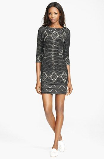 Tracy Reese Tribal Jacquard Shift Dress available at #Nordstrom