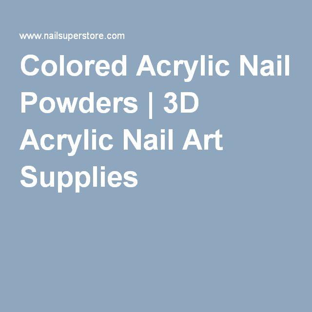Colored Acrylic Nail Powders   3D Acrylic Nail Art Supplies