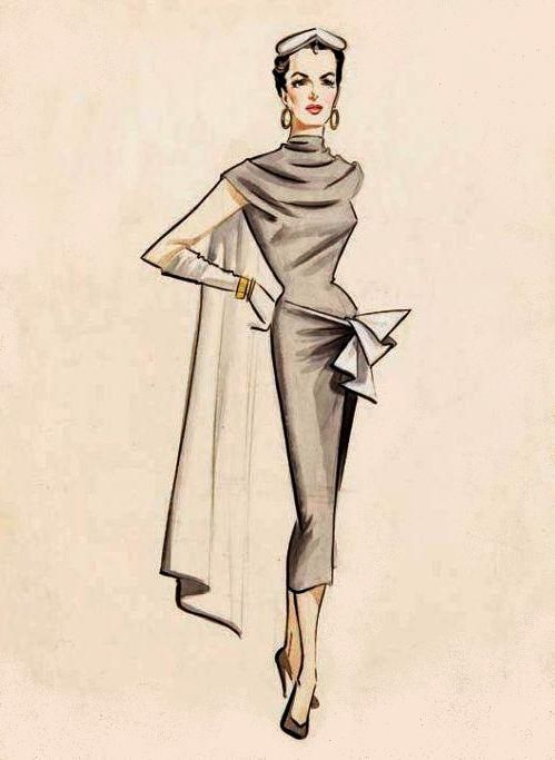 Jane Russell costume design sketch from Gentlemen Marry Brunettes - 195