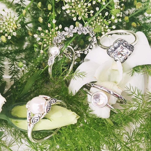 Pandora rings are elegant, classic and perfect to combine together to create a custom stack!!