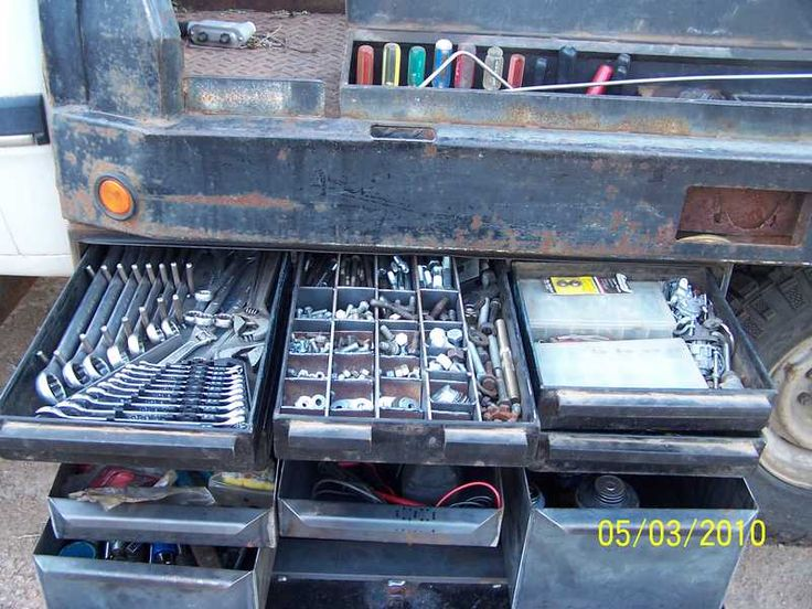 73 best images about service truck ideas on pinterest arc welders miller welding and trucks - Truck bed storage ideas ...