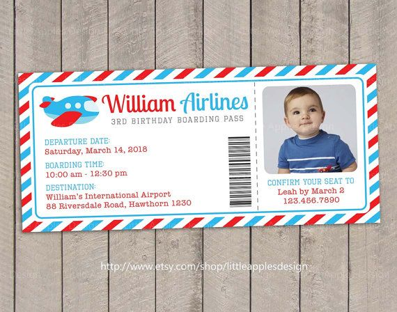 Hello, welcome to Little Apples Design!    Plane Birthday Invitation Digital Printable, also suitable for first birthday :) This is printable file and