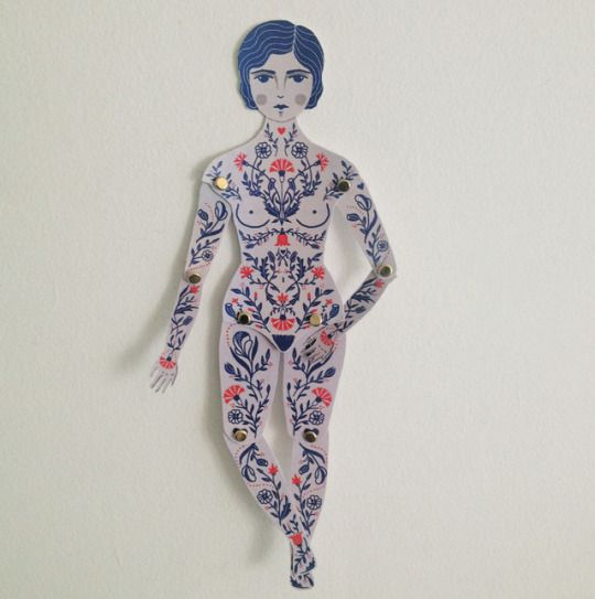 Paper doll, free printable file by Daniela William
