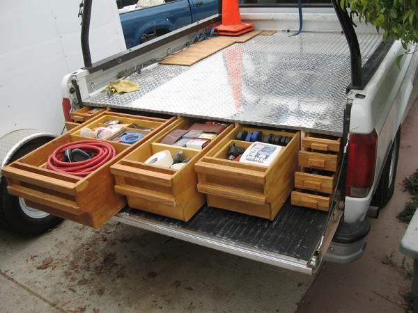 Home-Made Truck Bed Storage http://www.toolsofthetrade.net/homemade-and-modified-tools/neal-s-way-cool-home-made-truck-bed-storage.aspx