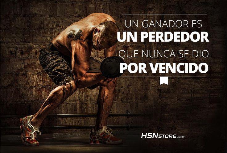 Un ganador es un perdedor que nunca se dio por vencido. #fitness #motivation…