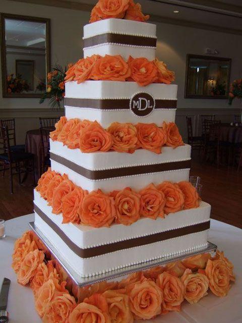 orange and ivory wedding cake images   Inspiration and Ideas - Zurita Wedding Planning
