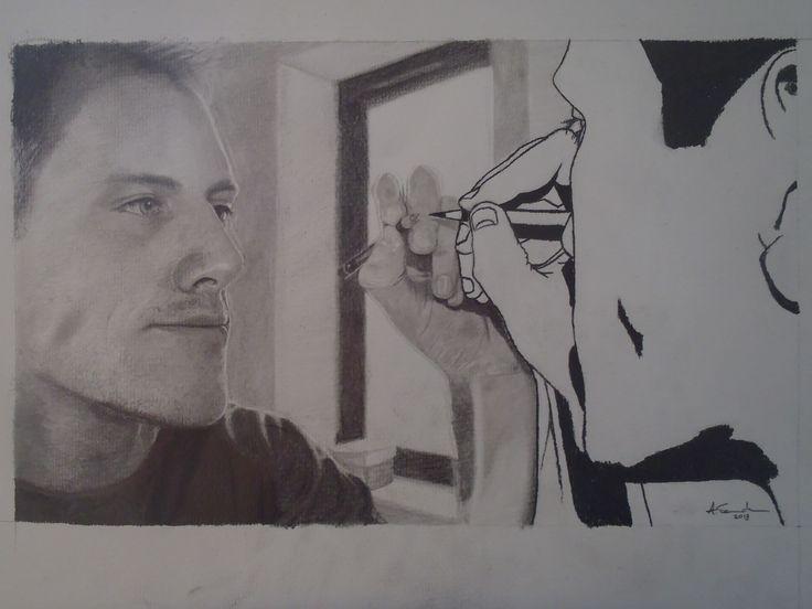 Hyper realism self portrait by Adrian Sandham: https://www.facebook.com/pages/Adrian-Sandham/198055230325522.