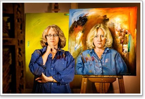Portrait painter Stephanie Brown
