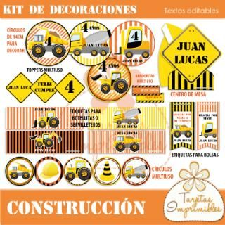 Kit de decoraciones Construcción