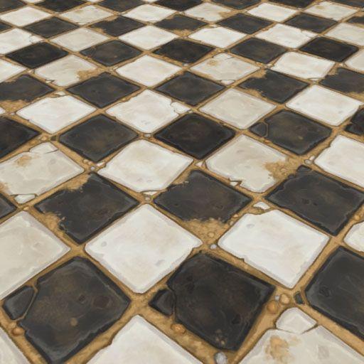 Broken Stone Tiles | Hand Painted Textures