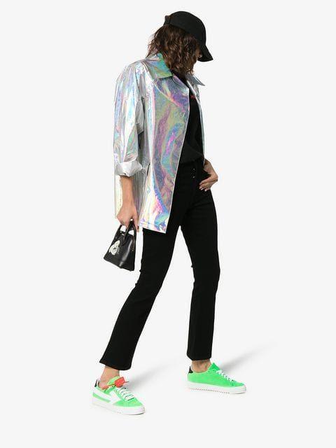d5a5da92354 Off-White Green c/o Virgil Abloh Arrow Suede Leather Sneakers - Farfetch