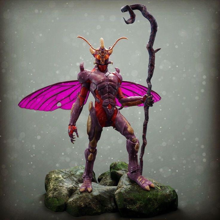 #zbrush #keyshot #insect #bugman #3d #digitalart #nature #fantasy