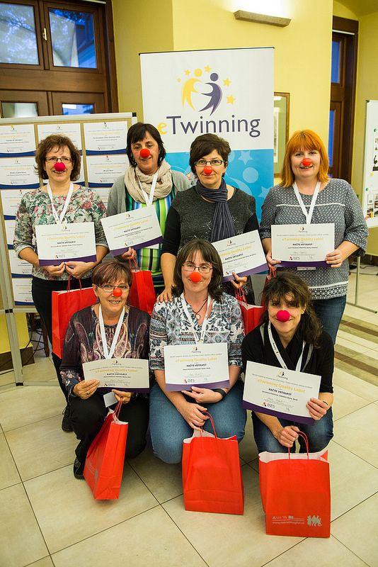 Národní konference Erasmus+/eTwinning ve Štiříně 13. - 15. 10. 2016, přebírání Quality Label